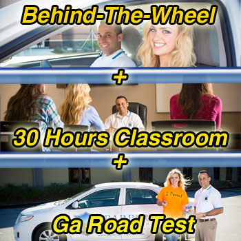 behind the wheel plus classroom plus georgia road test
