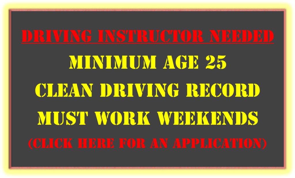 Driving instructor needed